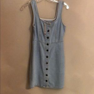 Urban Outfitters Jean Button Front Dress
